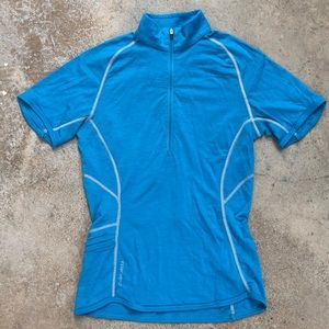Icebreaker 150 Wool short-sleeved half zip S
